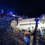 Şarampole devrilen araçta anne öldü, 4 çocuğu yaralandı
