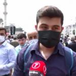 Taksim Camii'nin açılışında vatandaşların çoşkusu...