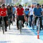 Alanya'da vatandaşlar Başkan Yücel ile pedal çevirdi