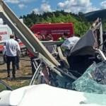 Bariyer otomobile saplandı, yürekler yandı!