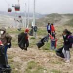 Erciyes'te, 4,3 ton çöp toplandı
