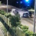 Çanakkale'de polis ve astsubayın şehit olduğu kaza kamerada