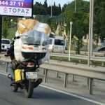 Trafikte motosiklet magandalığı: Canları hiçe saydı