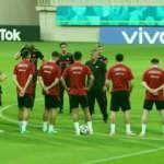 A Milli Takım, İsviçre maçı hazırlıklarına başladı