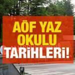 AÖF yaz okulu sınavları yüz yüze mi olacak? Anadolu Üniversitesi kayıt ve sınav tarihlerini duyurdu!