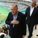 Dev maç öncesi o anlar! Erdoğan ve Aliyev...