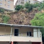 Eyüpsultan'da sağanak yağış sonrası toprak kayması