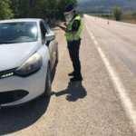 Jandarma denetimleri artırdı! 25 araç sürücüsüne 18 bin 400 TL ceza