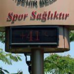 Adana'da termometreler 41 dereceyi gösterdi, parklar doldu