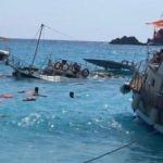 Fethiye'de tur teknesi battı