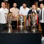 Galatasaraylı eski futbolculardan Burak Elmas'a ziyaret