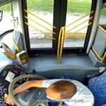 Otobüste yangın! Şoförün dikkati faciayı önledi