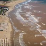 Sağanağın ardından Şile'de denizin rengi değişti
