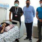 9 yaşındaki skolyoz hastası Yağmur şifayı Sivas'ta buldu!