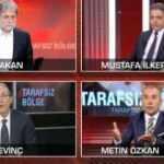Canlı yayında gazetecilerin söz düellosu gerilime dönüştü