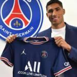 Achraf Hakimi'den Paris Saint-Germain'e 5 yıllık imza