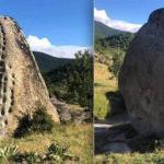 Şaşırtan görüntü! 21 basamaklı kaya