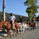 Tarih ve doğa manzaralı atlı safari