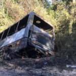 Yolcu minibüsü alev alev yandı: Canlarını son anda kurtardılar