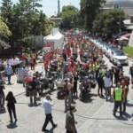 Motosikletçiler, 15 Temmuz şehitleri için konvoy oluşturdu