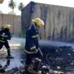 Bağdat'ta askeri havalimanında yangın!
