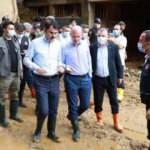 Bakanlar Soylu, Kurum ve Karaismailoğlu'nun Rize'deki incelemeleri devam ediyor