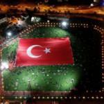 İşte dünyanın en büyük Türk bayrağı! Nefes kesen görüntüler