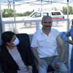 Edirne Valisi Canalp, gurbetçilere Kapıkule'de aşı çağrısı yaptı