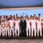 Tokyo 2020'ye katılacak Türk sporcular Japonya'ya uğurlandı