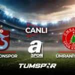 Trabzonspor Ümraniyespor maçı canlı? A Spor TS Ümraniye maçı canlı skor takip!