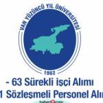 Van Yüzüncü Yıl Üniversitesi 63 Sürekli İşçi ve 91 Sözleşmeli personel alımı devam ediyor!