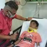 Babasının patronuna ait ciple kaçan çocuk kaza yaptı