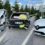 Eskişehir'de zincirleme kaza, yaralılar var!