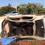 Gaziantep'te otomobil şarampole uçtu: 2 ölü