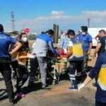 Kayseri'de refüje çarpan otomobil devrildi: 5 yaralı