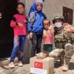 Mehmetçikten Barış Pınarı bölgesine yardım eli