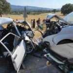 Otomobil ile hafif ticari araç kafa kafaya çarpıştı: 1 ölü, 6 yaralı