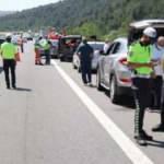 TEM'de otomobil, 3 araca çarptı: 3 yaralı