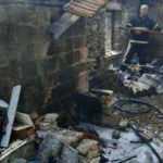 Aydın'da yer ocağı evi kül etti