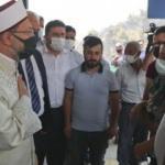 Yangında hayatını kaybeden çift için Diyanet İşleri Başkanı Erbaş'tan taziye ziyareti