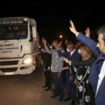 AK Parti Ankara İl Başkanlığı'dan yangın bölgelerine 21 TIR yardım