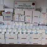 Antalya'da 3 milyon 300 bin liralık kaçak ilaç ele geçirildi
