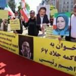 İran'ın yeni Cumhurbaşkanı Reisi, Brüksel'de protesto edildi