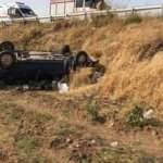 Kontrolden çıkan araç tarlaya uçtu: 1 ölü, 1 yaralı