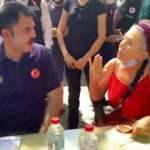 Bakan Kurum, görüşmeyi bölüp provokasyon yapan kadını yanına alıp tek tek anlattı!