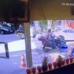 Oğulcan Engin'in motosikletinin çalındığı anlar kamerada
