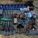 Siirt'te PKK'lı teröristlere ait silah, mühimmat ve el bombası ele geçti