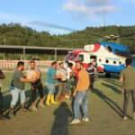 Türkeli'ne helikopter ve gemilerle  ekmek ve su taşınıyor