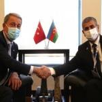 Bakan Akar'dan Azerbaycan Savunma Bakanı Hasanov ile önemli görüşme