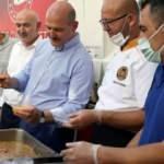 Bakan Soylu, sel felaketinden etkilenen Bozkurt'ta aşure dağıttı